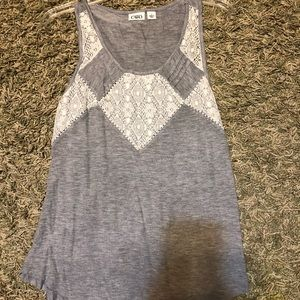 Grey tank top with lace